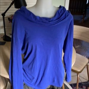 Lucy royal blue/purple scoop neck long sleeve